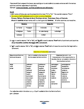 French Fries song and lesson plan