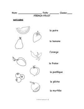 French Fruit BUNDLE: Les fruits