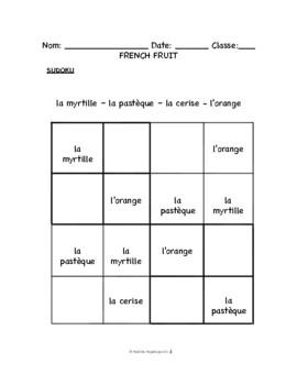 Lesson 7: French Fruit, Les fruits -- Pomme, pêche, poire, abricot