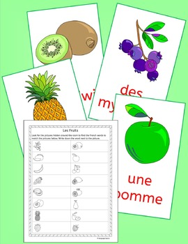 French Fruit Vocabulary - Les Fruits -  games, activities and puzzles