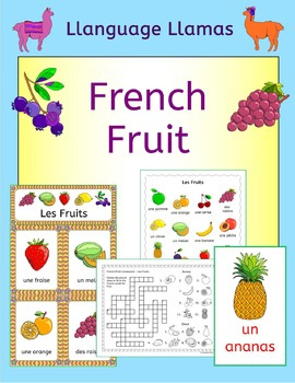 French Fruit Vocabulary - Les Fruits -  games, activities