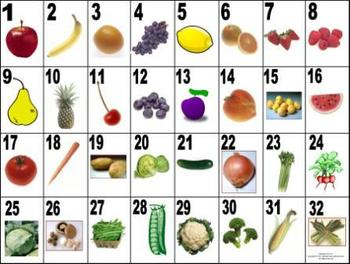 French Fruit & Vegetable Vocabulary Teaching Posters