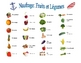 French Fruit and Vegetable Speaking/Writing  Activity (Naufrage)