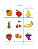 French Fruit and Vegetable Vocabulary, Questions, Writing
