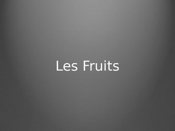 French Fruits