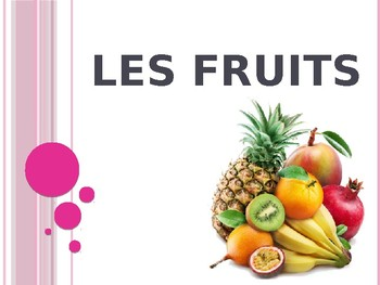French Fruits Powerpoint