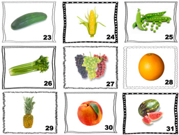 French Fruits and Vegetables Speaking and Writing Activities (Zut Cards)