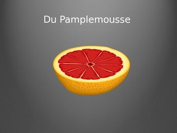 French Fruits with partitive