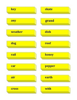 French Fry Compound Words