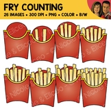 French Fry Counting Scene Clipart