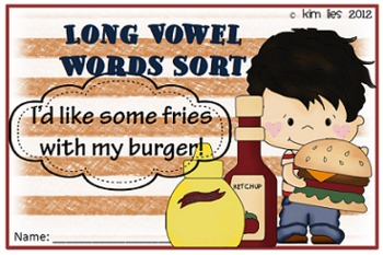 French Fry Long Vowel Sort