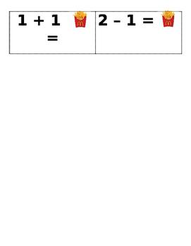 French Fry Math Fluency