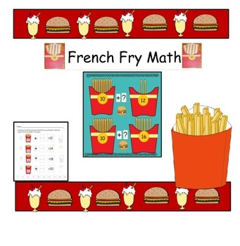 French Fry Math - Making 2 digit Numbers with Groups of 10