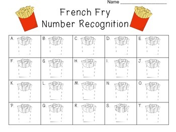 French Fry Math templates
