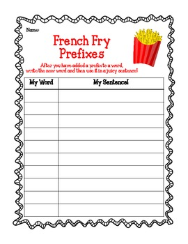 French Fry Prefixes!