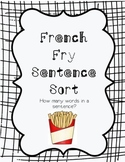 French Fry Sentence Sort (How many words in a sentence?)