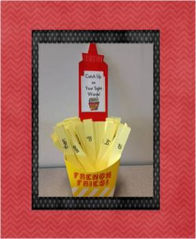 "French Fry Sight Word Practice - ""Catch Up"" on your sight words!"
