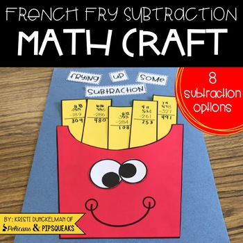French Fry Subtraction Math Craft