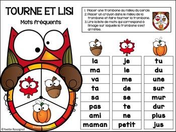 French Fall Centre Activities  - Mots, nombres et alphabet pour l'automne
