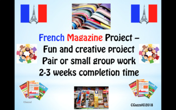 French – Fun, Creative Magazine Project.