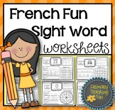 French Phonics Activities: 60 French sight words, 60 wordw