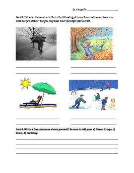 French Fundamentals Quiz