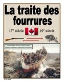 """French: """"La traite des fourrures"""""""