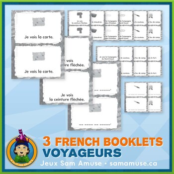 French Fur Trade Voyageurs • 3 Reading & Writing Booklets