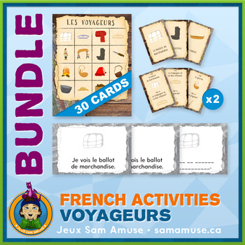 French Fur Trade Voyageurs • Booklets, Bingo & Card Games Bundle