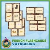 French Fur Trade Voyageurs Flash Cards • 3 styles included