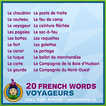 French Fur Trade Voyageurs • Flash Cards & Word Wall Posters Bundle