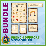 French Fur Trade Voyageurs • Flash Cards & Word Wall Poste