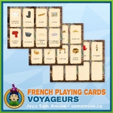 French Fur Trade Voyageurs Playing Cards • Card Game