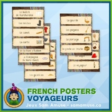 French Fur Trade Voyageurs Word Wall • Horizontal 1/4 Page