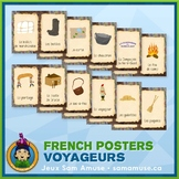 French Fur Trade Voyageurs Word Wall • Vertical 1/2 Page Posters