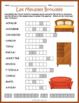 French Furniture Vocabulary Puzzle Bundle: Les Meubles