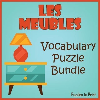 French Furniture Vocabulary Bundle