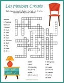 French Furniture Crossword Puzzle: Les Meubles