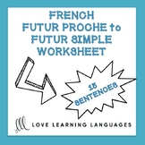 French Futur Proche to Futur Simple Worksheets - French Fu