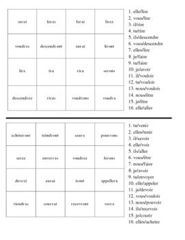 """French """"Futur Simple"""" Verb Activities - Magic Squares"""