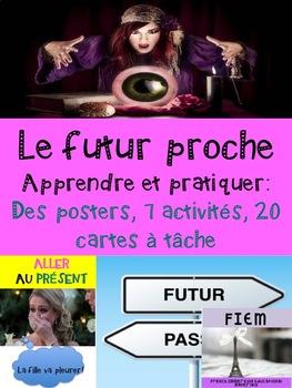 French: Futur proche: Activités, posters, Cartes à tâches