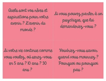 """French """"Future Plans"""" cards for Vocabulary and Conversation"""