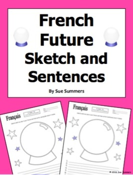 French Future Sketch and Sentences - Future Tense or Aller