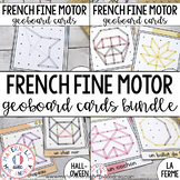 French GEOBOARD Math Centre Cards - The GROWING BUNDLE