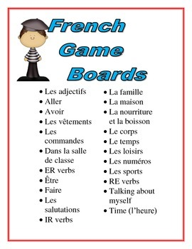French Game Boards