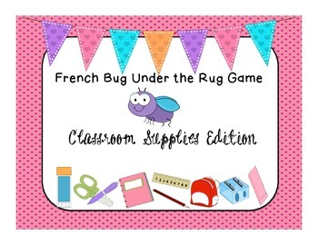 French Game Classroom Supplies Edition la rentrée Back to School