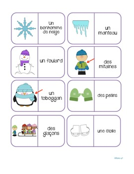 French Game - Dominos - winter