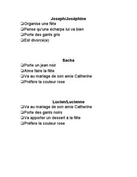 French Game - Espion - Spy - Devinez qui! Unité Les fêtes et les vêtements