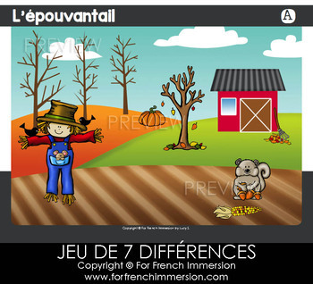 French Game - Find the 7 Differences FALL / AUTUMN