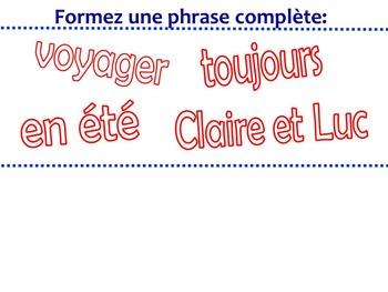French Game - Jeu d'ardoise - ER Verbs and Adverbs - Discovering Bleu lesson 7